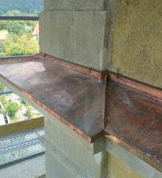 Restaurierung von Bauornamenten / Klempnermanufaktur: Kirche Kirchlauter