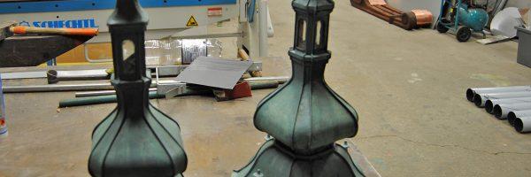 Klempnerarbeiten in der Denkmalpflege: Miniaturtürme Vierzehnheiligen