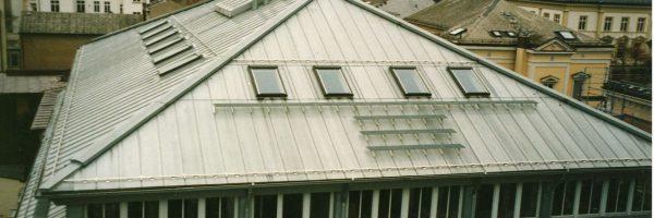 Metalleindeckung: Viktoria Bamberg Geschäftshaus