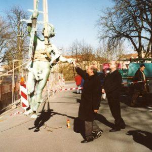 Restaurierung von Bauornamenten / Klempnermanufaktur: Justizia Gericht Bamberg